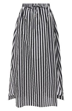 Женская хлопковая юбка MAX MARA черно-белого цвета, арт. UTOPICO 31010118   Фото 1