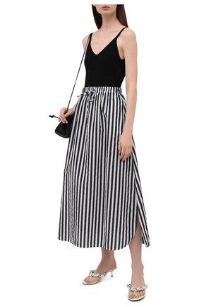Женская хлопковая юбка MAX MARA черно-белого цвета, арт. UTOPICO 31010118   Фото 2