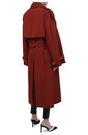 Женский двубортный тренч LESYANEBO  цвета, арт. SS21/Н-465   Фото 4 (Рукава: Длинные; Материал внешний: Синтетический материал, Хлопок; Длина (верхняя одежда): Длинные; Стили: Романтичный)