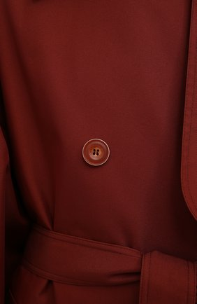 Женский двубортный тренч LESYANEBO  цвета, арт. SS21/Н-465   Фото 5 (Рукава: Длинные; Материал внешний: Синтетический материал, Хлопок; Длина (верхняя одежда): Длинные; Стили: Романтичный)