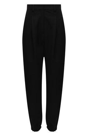 Женские шерстяные брюки BRUNELLO CUCINELLI черного цвета, арт. MA171P7776 | Фото 1 (Материал внешний: Шерсть; Силуэт Ж (брюки и джинсы): Прямые; Стили: Кэжуэл; Женское Кросс-КТ: Брюки-одежда; Длина (брюки, джинсы): Укороченные)