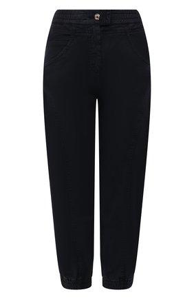 Женские хлопковые брюки GIORGIO ARMANI темно-синего цвета, арт. 1WHPP0IP/T02X5   Фото 1
