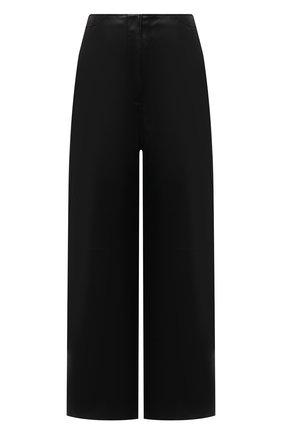 Женские кожаные брюки TOTÊME черного цвета, арт. 213-250-600 | Фото 1