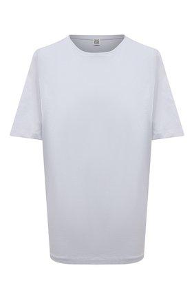 Женская хлопковая футболка TOTÊME серо-голубого цвета, арт. 213-472-770 | Фото 1