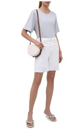 Женская хлопковая футболка TOTÊME серо-голубого цвета, арт. 213-472-770 | Фото 2