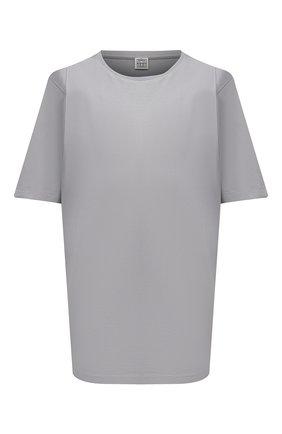 Женская хлопковая футболка TOTÊME серого цвета, арт. 213-472-770 | Фото 1