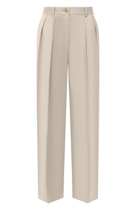 Женские хлопковые брюки THE ROW кремвого цвета, арт. 5629W2047   Фото 1