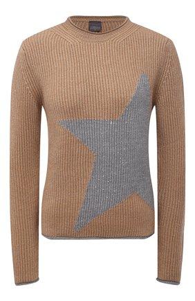 Женский шерстяной пуловер LORENA ANTONIAZZI бежевого цвета, арт. A21123GM014/328 | Фото 1
