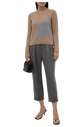 Женский шерстяной пуловер LORENA ANTONIAZZI бежевого цвета, арт. A21123GM014/328 | Фото 2