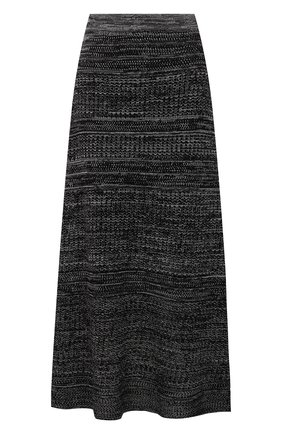 Женская юбка из шелка и хлопка PROENZA SCHOULER WHITE LABEL черно-белого цвета, арт. WL2137643-KS057 | Фото 1