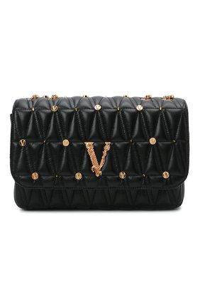 Женская сумка virtus medium VERSACE черного цвета, арт. DBFH822/1A00800 | Фото 1