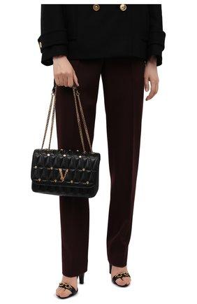 Женская сумка virtus medium VERSACE черного цвета, арт. DBFH822/1A00800 | Фото 2