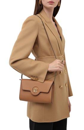Женские кожаный кошелек на цепочке la medusa VERSACE светло-коричневого цвета, арт. 1000814/DVIT2T | Фото 2
