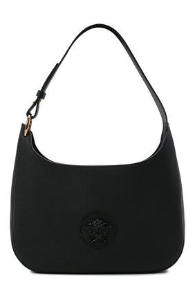 Женская сумка la medusa medium VERSACE черного цвета, арт. 1000699/DVIT3T | Фото 1 (Материал: Натуральная кожа; Сумки-технические: Сумки top-handle; Размер: medium)