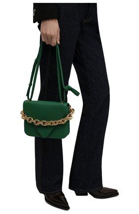 Женская сумка mount BOTTEGA VENETA зеленого цвета, арт. 667399/V12M0 | Фото 2