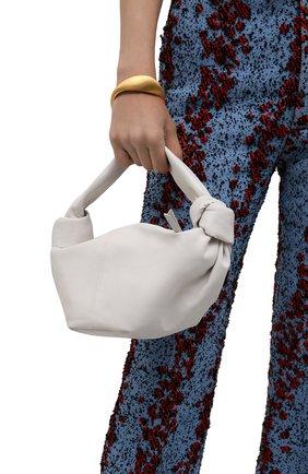 Женская сумка mini BOTTEGA VENETA белого цвета, арт. 629635/VCP41 | Фото 2
