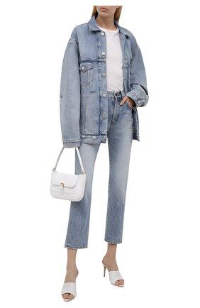 Женская джинсовая куртка BALENCIAGA голубого цвета, арт. 664329/TBP48 | Фото 2