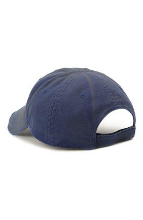 Женская хлопковая бейсболка BALENCIAGA синего цвета, арт. 661884/310B2 | Фото 2