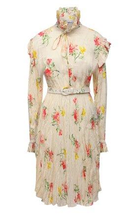 Женское платье BALENCIAGA бежевого цвета, арт. 660121/TJL76 | Фото 1