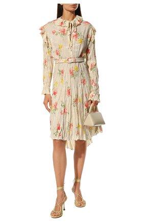 Женское платье BALENCIAGA бежевого цвета, арт. 660121/TJL76 | Фото 2