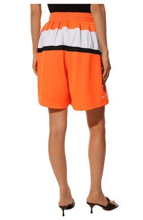 Женские шорты BALENCIAGA оранжевого цвета, арт. 657830/TKV24   Фото 4 (Женское Кросс-КТ: Шорты-одежда; Длина Ж (юбки, платья, шорты): Мини; Материал внешний: Синтетический материал; Стили: Спорт-шик)