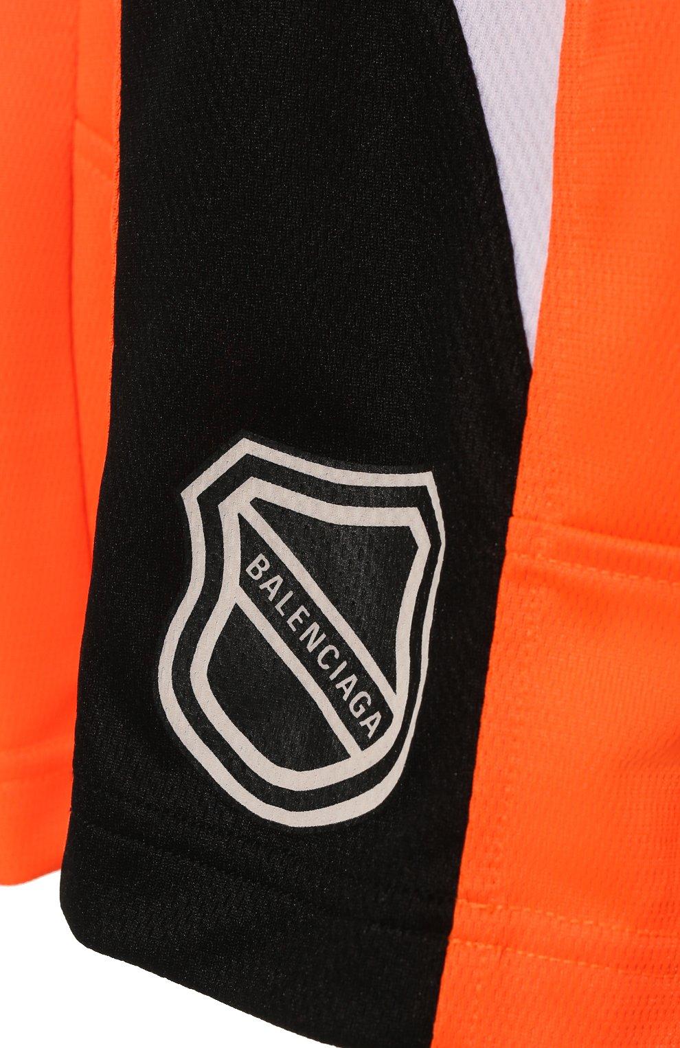 Женские шорты BALENCIAGA оранжевого цвета, арт. 657830/TKV24   Фото 5 (Женское Кросс-КТ: Шорты-одежда; Длина Ж (юбки, платья, шорты): Мини; Материал внешний: Синтетический материал; Стили: Спорт-шик)