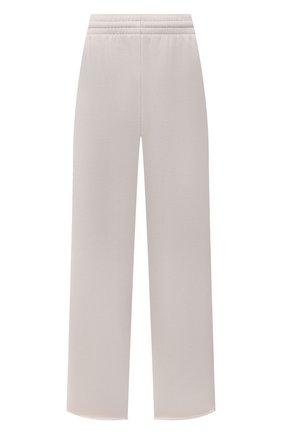 Женские хлопковые брюки BALENCIAGA светло-серого цвета, арт. 657822/TJVN8 | Фото 1 (Материал внешний: Хлопок; Длина (брюки, джинсы): Стандартные; Силуэт Ж (брюки и джинсы): Широкие; Женское Кросс-КТ: Брюки-одежда; Кросс-КТ: Трикотаж; Стили: Спорт-шик)