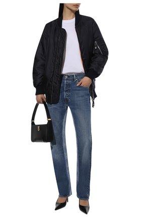 Женские джинсы BALENCIAGA синего цвета, арт. 657611/TJW68 | Фото 2