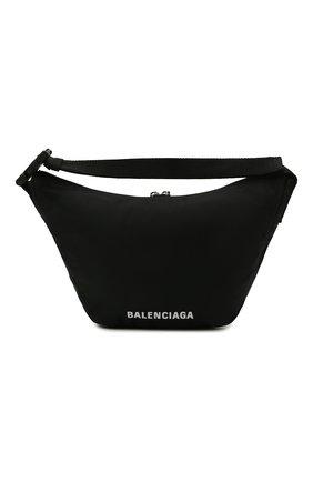 Женская поясная сумка wheel BALENCIAGA черного цвета, арт. 655009/H858X | Фото 1 (Размер: large; Стили: Спорт; Материал: Текстиль)