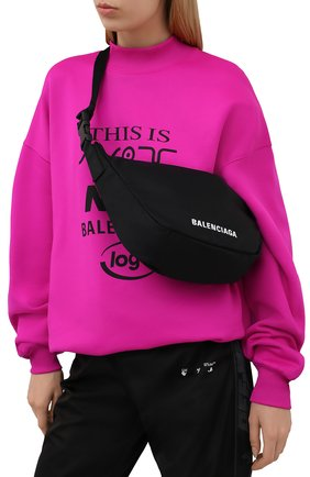 Женская поясная сумка wheel BALENCIAGA черного цвета, арт. 655009/H858X | Фото 2 (Размер: large; Стили: Спорт; Материал: Текстиль)