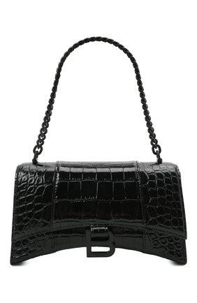 Женская сумка hourglass xs BALENCIAGA черного цвета, арт. 654944/1LR67 | Фото 1