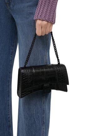 Женская сумка hourglass xs BALENCIAGA черного цвета, арт. 654944/1LR67 | Фото 2
