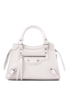Женская сумка neo classic mini BALENCIAGA кремвого цвета, арт. 638524/15Y4Y | Фото 1 (Материал: Натуральная кожа; Сумки-технические: Сумки top-handle; Размер: mini; Ремень/цепочка: На ремешке)