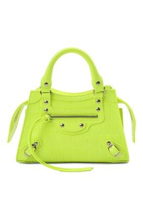 Женская сумка neo classic city mini BALENCIAGA зеленого цвета, арт. 638524/15V9Y | Фото 1 (Ремень/цепочка: На ремешке; Материал: Натуральная кожа; Размер: mini; Сумки-технические: Сумки top-handle)