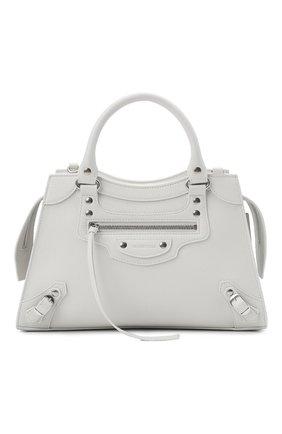 Женская сумка neo classic city s BALENCIAGA белого цвета, арт. 638521/15Y4Y | Фото 1 (Материал: Натуральная кожа; Сумки-технические: Сумки top-handle; Ремень/цепочка: На ремешке; Размер: medium)