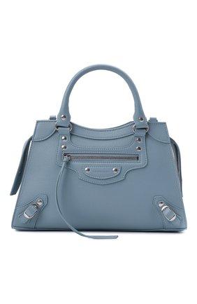 Женская сумка neo classic city s BALENCIAGA голубого цвета, арт. 638521/15Y4Y | Фото 1 (Материал: Натуральная кожа; Сумки-технические: Сумки top-handle; Ремень/цепочка: На ремешке; Размер: medium)