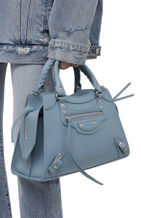 Женская сумка neo classic city s BALENCIAGA голубого цвета, арт. 638521/15Y4Y | Фото 2 (Материал: Натуральная кожа; Сумки-технические: Сумки top-handle; Ремень/цепочка: На ремешке; Размер: medium)