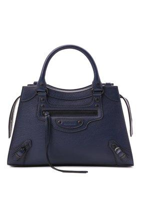 Женская сумка neo classic city s BALENCIAGA темно-синего цвета, арт. 638521/15Y47 | Фото 1 (Материал: Натуральная кожа; Сумки-технические: Сумки top-handle; Ремень/цепочка: На ремешке; Размер: medium)
