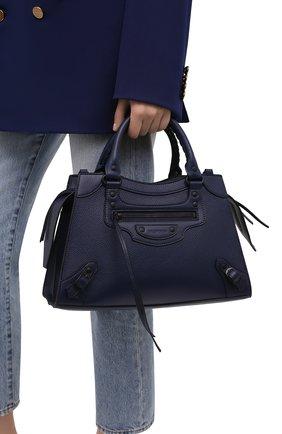 Женская сумка neo classic city s BALENCIAGA темно-синего цвета, арт. 638521/15Y47 | Фото 2 (Материал: Натуральная кожа; Сумки-технические: Сумки top-handle; Ремень/цепочка: На ремешке; Размер: medium)
