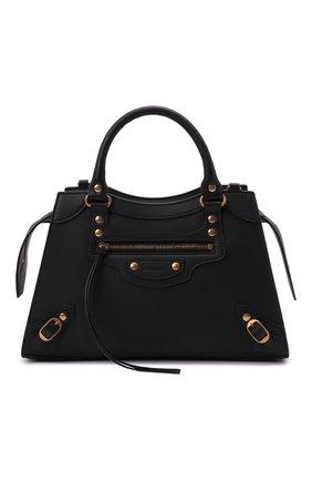 Женская сумка neo classic city s BALENCIAGA черного цвета, арт. 638521/11R51 | Фото 1 (Материал: Натуральная кожа; Сумки-технические: Сумки top-handle; Ремень/цепочка: На ремешке; Размер: medium)
