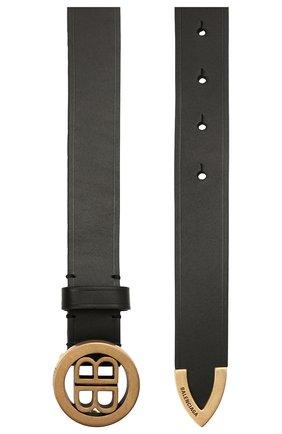 Женский кожаный ремень bb BALENCIAGA черного цвета, арт. 620328/1CH04 | Фото 2