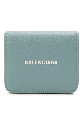 Женские кожаное портмоне BALENCIAGA мятного цвета, арт. 594216/1IZI3 | Фото 1