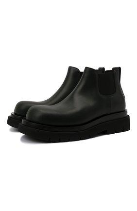 Мужские кожаные челси lug BOTTEGA VENETA темно-зеленого цвета, арт. 634403/VBS50 | Фото 1 (Материал внутренний: Натуральная кожа; Подошва: Массивная; Каблук высота: Высокий; Мужское Кросс-КТ: Челси-обувь, Сапоги-обувь)