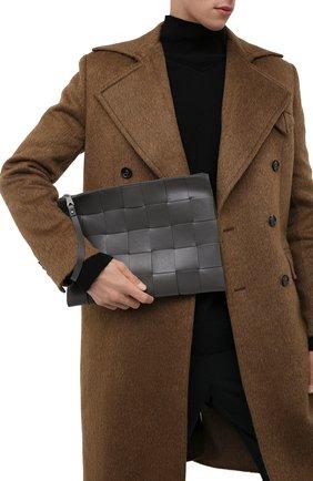 Мужская кожаная папка для документов BOTTEGA VENETA темно-серого цвета, арт. 649616/VBWD3 | Фото 2