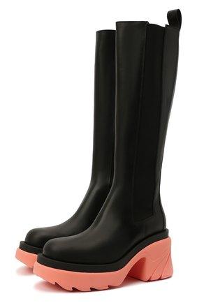 Женские кожаные сапоги BOTTEGA VENETA розового цвета, арт. 667149/VBS50 | Фото 1