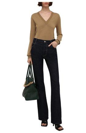 Женский шерстяной пуловер BOTTEGA VENETA бежевого цвета, арт. 668585/V0ZY0 | Фото 2