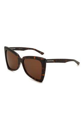 Женские солнцезащитные очки BALENCIAGA коричневого цвета, арт. 664086/T0001 | Фото 1