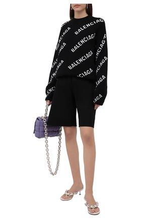 Женский шерстяной свитер BALENCIAGA черного цвета, арт. 657520/T1567 | Фото 2