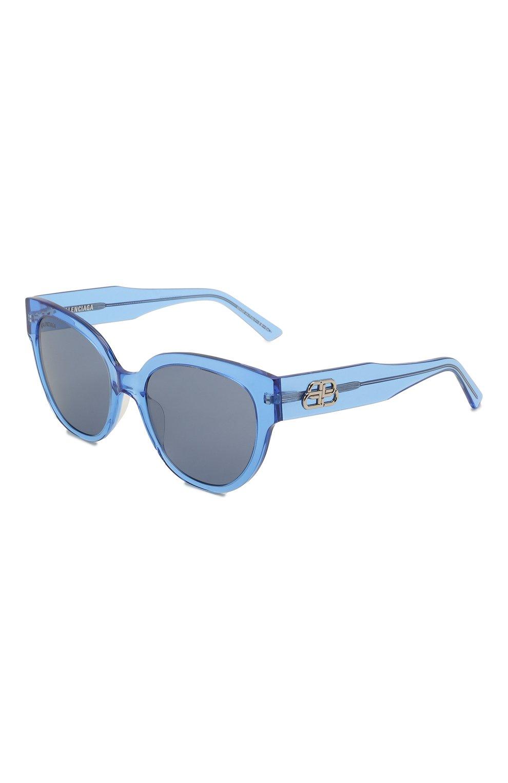 Женские солнцезащитные очки BALENCIAGA голубого цвета, арт. 584805/T0001 | Фото 1