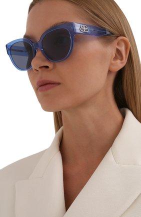 Женские солнцезащитные очки BALENCIAGA голубого цвета, арт. 584805/T0001 | Фото 2